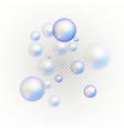 set of multicolored transparent soap bubbles vector image vector image