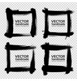 square frames from thick black smears isolated on vector image