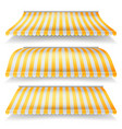 striped awnings set large striped awnings vector image