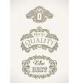 Victorian styled labels vector image vector image