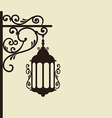 Vintage forging ornate street lantern isolated vector image vector image