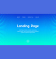 web site landing page business template vector image vector image