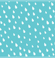 white rain drops on a teal background seamless vector image vector image
