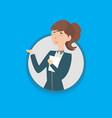 woman employee vector image