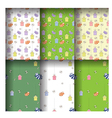 Cute seamless pattern of cartoonish funny cats vector image