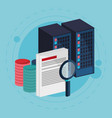 data center process document search vector image
