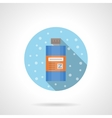 Shower gel round flat color icon vector image