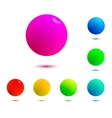 colorful balls isolated vector image