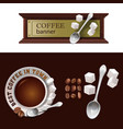 set of banner badge sticker with icon vector image