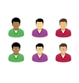 User Profile Picture Icon Set Flat style vector image