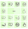 14 bad icons vector image vector image