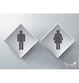 3D Restroom Sign Design vector image
