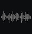 3d silver music wave logo audio monochrome mosaic vector image vector image