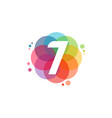 abstract 7 logo designs concept colorful number