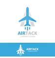 Airplane and a letter logo design
