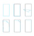 apply screen protector smartphones and tables vector image vector image
