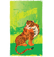 Artistic tiger design vector image vector image