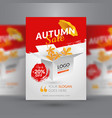 autumn sale flyer template vector image vector image