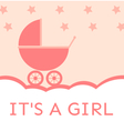 Baby shower its a girl vector image vector image