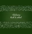 back to school chalkboard wallpaper education vector image