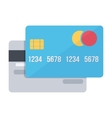 Bank credit cards Electronic money vector image vector image
