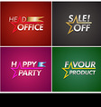 Banner set with star line vector image vector image