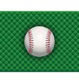 baseball checkered background vector image vector image