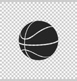basketball ball icon isolated on transparent vector image vector image