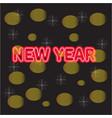 beautiful christmas golden deco baubles on dark vector image vector image