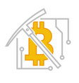 bitcoin currency virtual financial system vector image