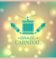 brazilian carnival typography and elements on vector image