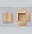 cardboard box top view open closed boxes inside vector image