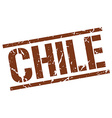Chile brown square stamp vector image vector image