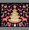 christmas banner design hand drawn vector image vector image