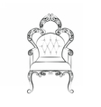 Classic royal chair with ornaments vector image vector image
