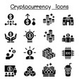 cryptocurrency icon set vector image vector image