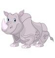 Cute Rhino vector image vector image