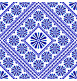decorative flower tile pattern vector image vector image