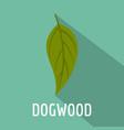 dogwood leaf icon flat style vector image vector image