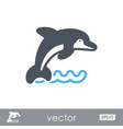 dolphin outline icon summer vacation vector image vector image