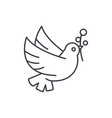 dove of peace line icon concept dove of peace vector image vector image
