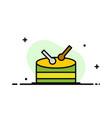 drum celebration business logo template flat color vector image vector image