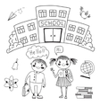Friends are waiting for you at school vector image vector image