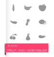fruit and vegetables icons set vector image vector image