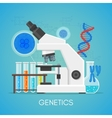 Genetics science education concept poster vector image vector image