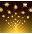 Glowing light stars background vector image