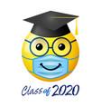 graduation 2020 state emergency 3d emoji vector image vector image
