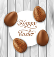 greeting card with Easter chocolate ornamental vector image