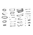 grunge dry brush strokes for design vector image vector image
