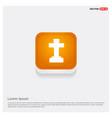 halloween grave cross icon vector image vector image